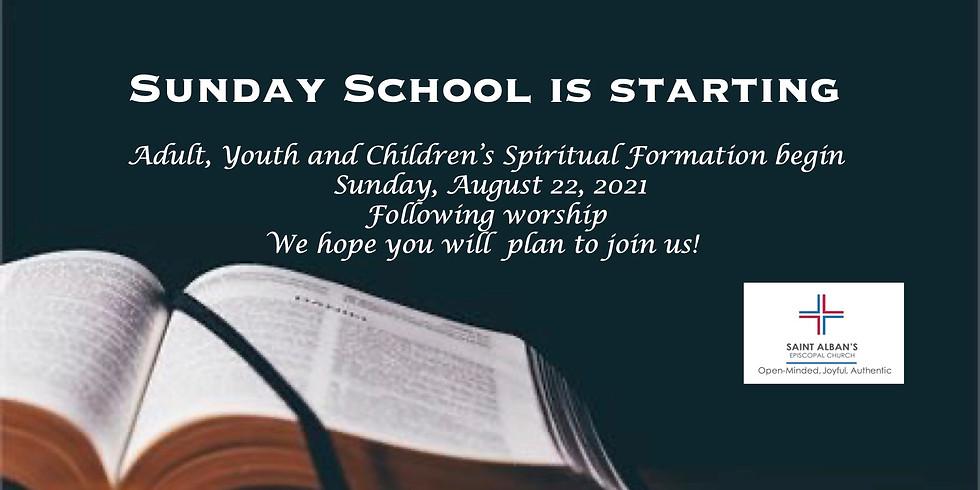 Sunday School is Starting!