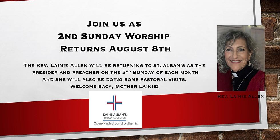 2nd Sunday Worship Returns