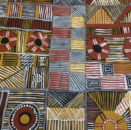 '4 Skin Groups – 4 Clan Groups' (detail) by Maree Puruntatameri from the Tiwi Islands