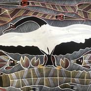 'Crocodile Dreaming Spirit' (detail) by Eddie Blitner