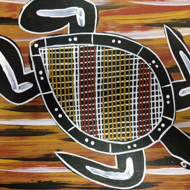 'Turtle' (detail) by Kenny Reid, Larrakia