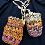 Pandanus Dilly Bags made by Beverly England from Maningrida