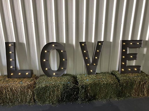 LOVE letter sign - HIRE ONLY