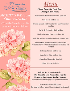 bluewater mothers day take and bake 2021