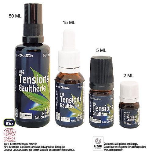 WBZ TENSIONS - Gaulthérie - Muscles Articulations - BIO - Sérum huileux - Flacon