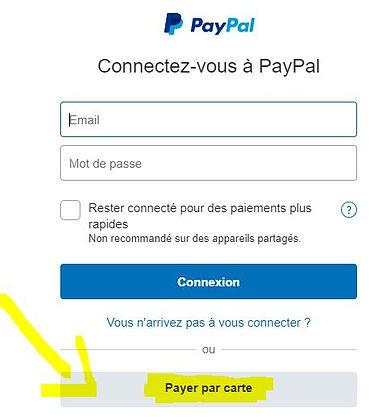 payer paypal par carte banquaire sur pay