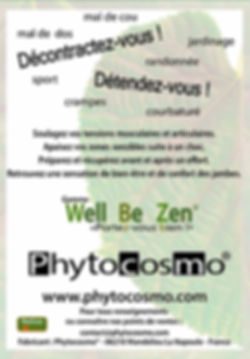Phytocosmo notice gamme Well Be Zen