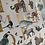 Thumbnail: Limited Edition Gold, Animal, Alphabet Print