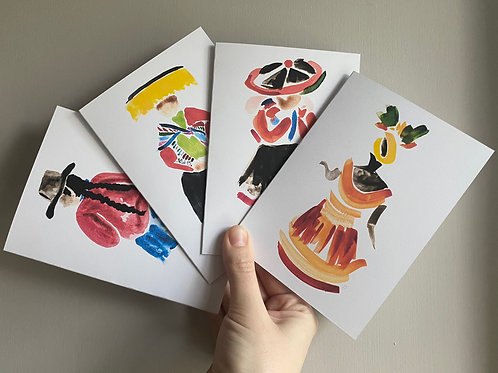 South America Greetings Cards, Recycled Card, Original Artwork, Multipacks