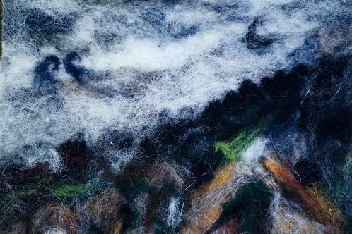 Abstract Felt Painting, Sliabh Liag, Ireland, Unframed