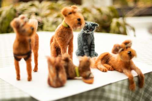 Personalised Needle-Felted Animal, Made to Order