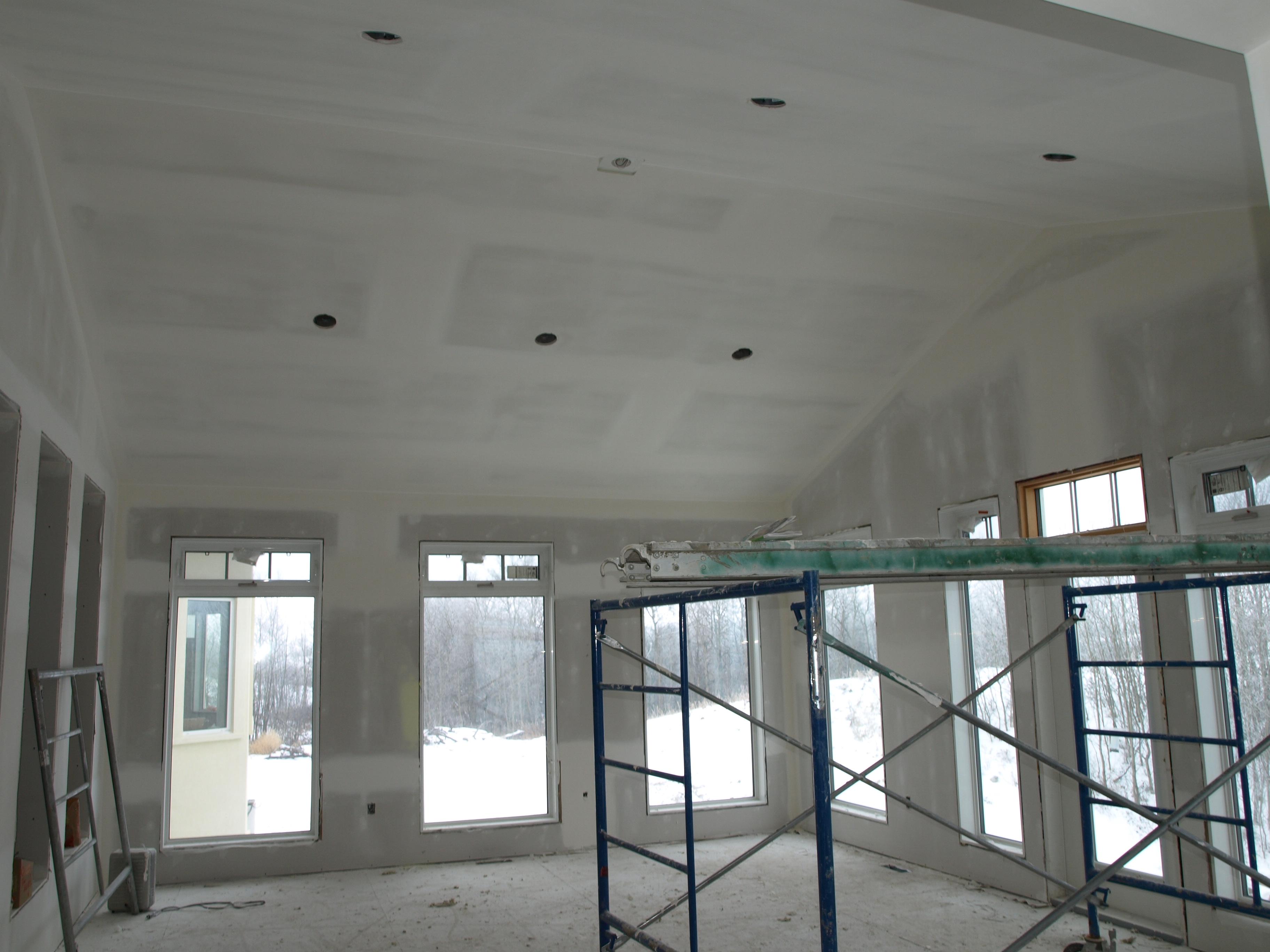 in progress drywall