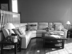 Before Living Room - B&W