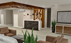 Bulkhead and Reception desk design
