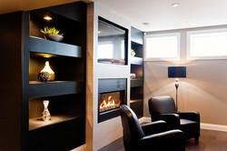 fireplace media wall