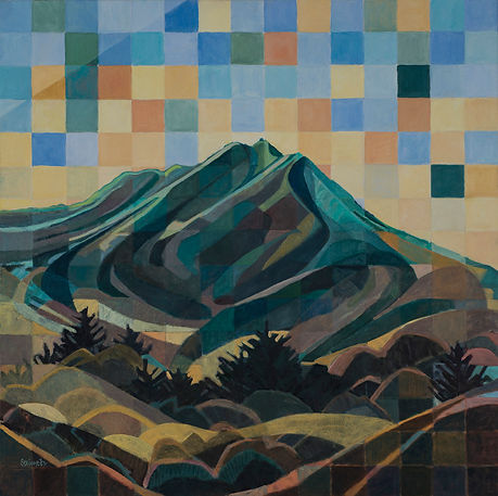 """Mount Tam Spectacular"", 30"" x 30"", Oil Commission"