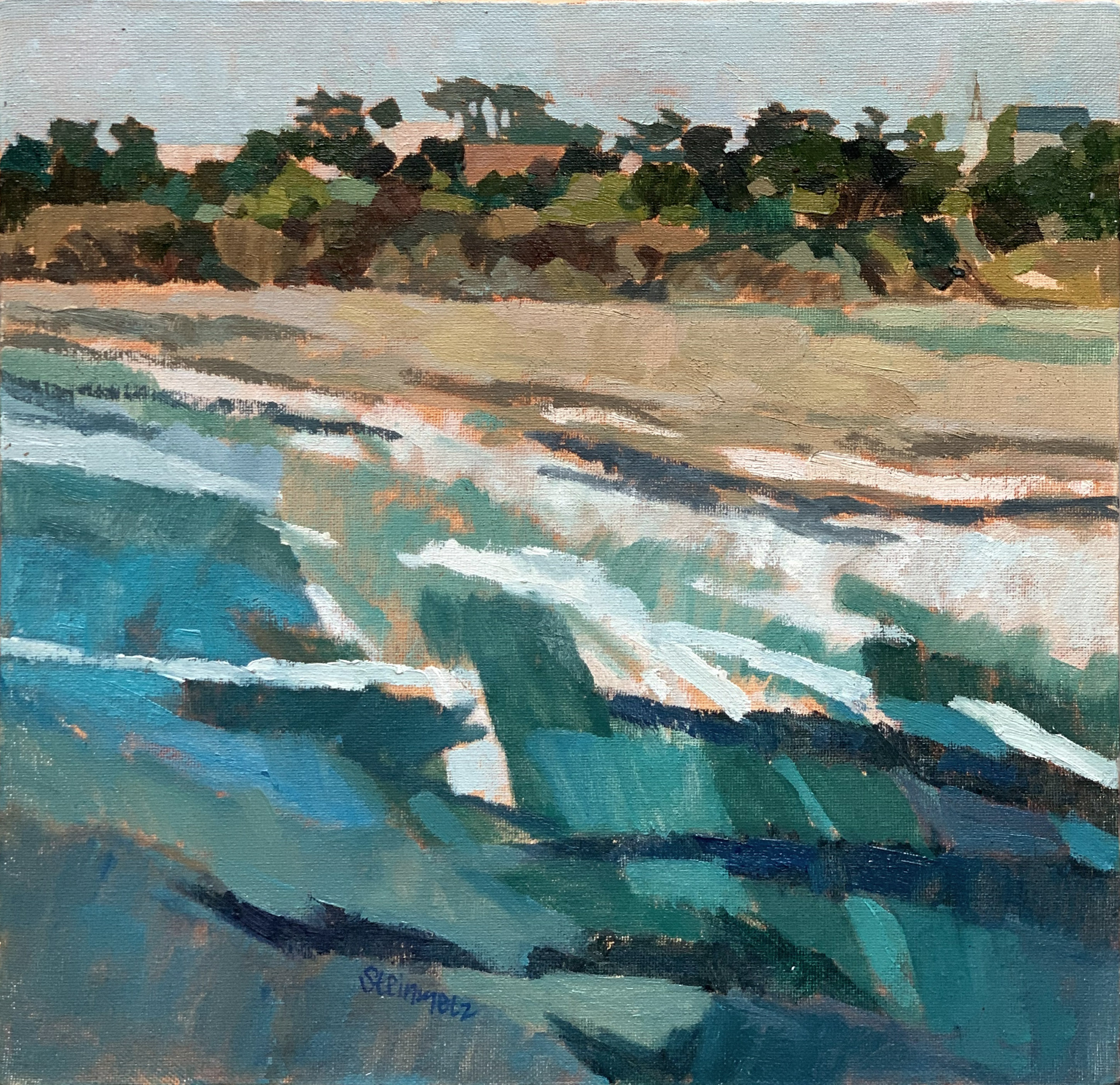 Windy Surf, Big River Beach, Mendocino