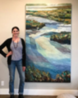 """""""Tide Switch"""", 44"""" x 80"""", Oil Commission"""