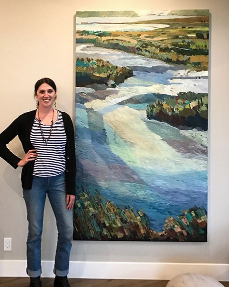 """Tide Switch"", 44"" x 80"", Oil Commission"