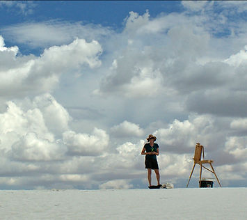 Plein air painting at White Sands,New Mexico