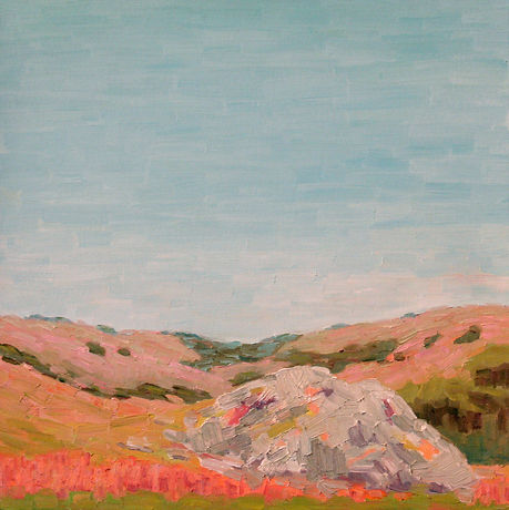 """Lichen Rock"", 24"" x 24"", Wedding Commission"
