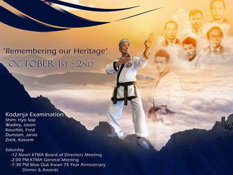 75th ANNIVERSARY KOREA TAEKWONDO MOO DUK KWAN!