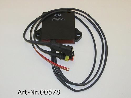 PVL electronic box with plugs