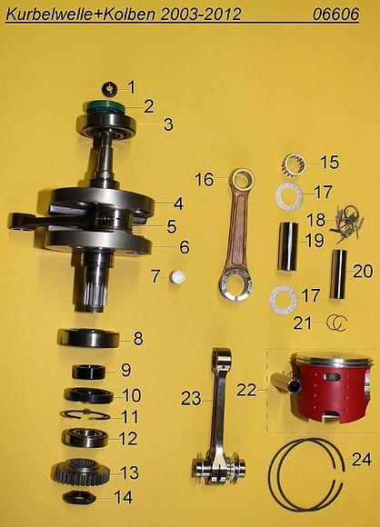 05_crankshaft + piston 2002-2012 06606.J