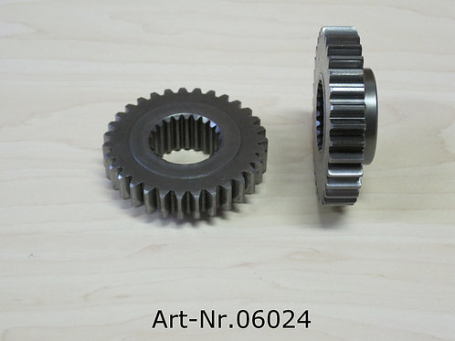 primary gear wheel on crankshaft
