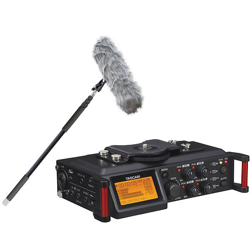 Tascam Sound Recorder with boom and mic