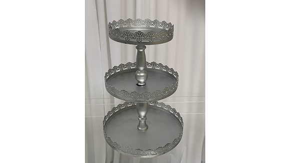 3 Tier Cupcake Stand (Silver)