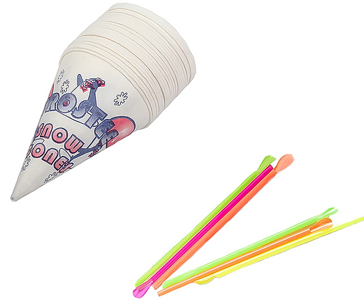 Sno-Kone Cups With Straws