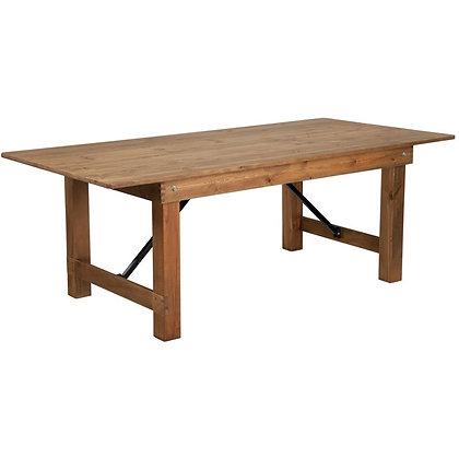 7' Pine Farm Table