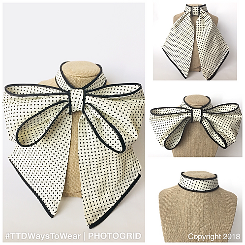 "3-in-1 Statement Bow: ""Spotted"""