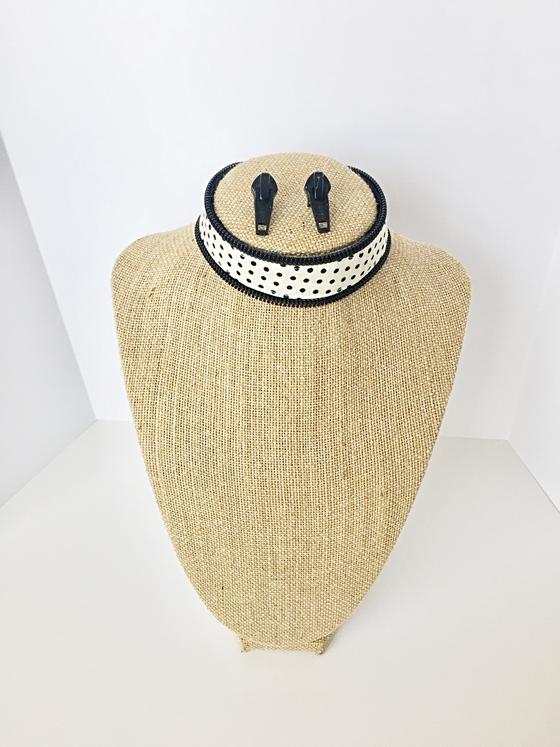 Featured Product: Zipper Earring/ Choker Set