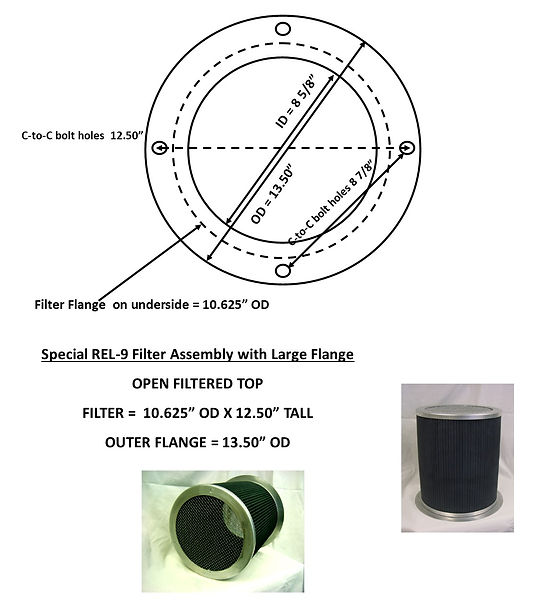 RELIANCE Filter with Large Flange diagra