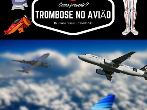 Como prevenir trombose, no avião?
