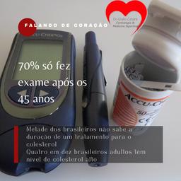 Metade dos brasileiros não sabe a duração de um tratamento para o colesterol