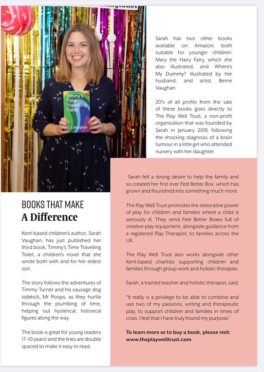 SJ Vaughan author article Support Local Magazine