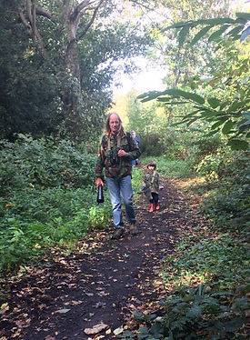 My dad taking my children exploring