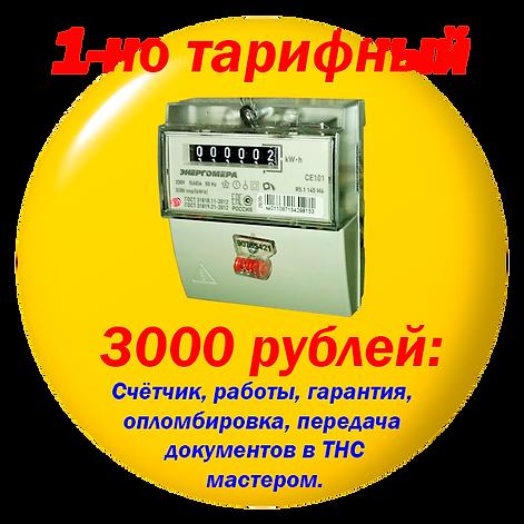 Однотарифный счетчик. 3000 рублей..png