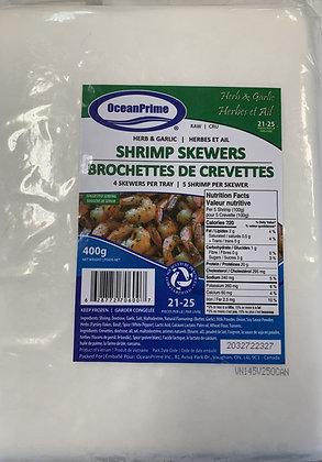 Herb & Garlic Shrimp Skewers