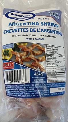 Raw Shell-On Argentina Shrimp 8-11
