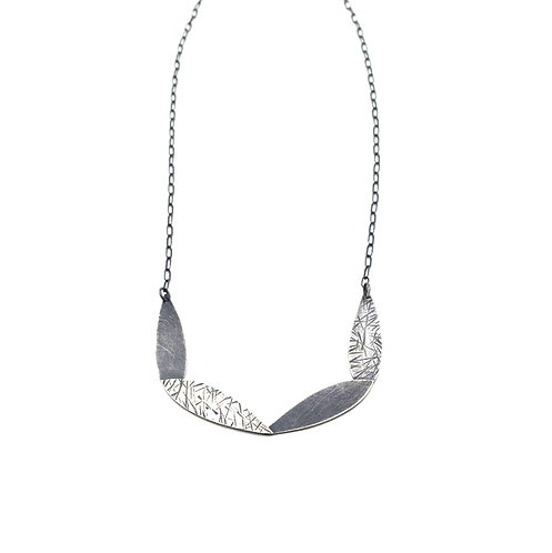 Feathered Hoop Necklace