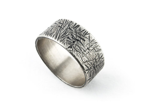 Night Sky Textured Ring