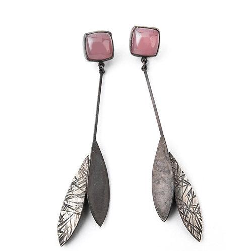 Rose Quartz Linear Feather Drops