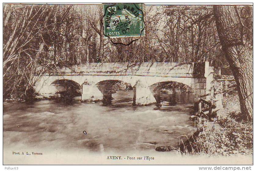 Pont d'Aveny en 1907