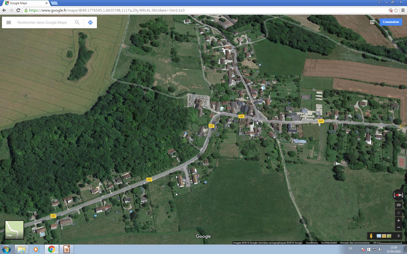 vue satellite Montreuil clic...