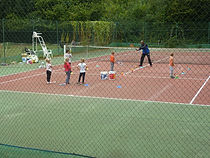 Sur le terrain de tennis Montreuil 22 9