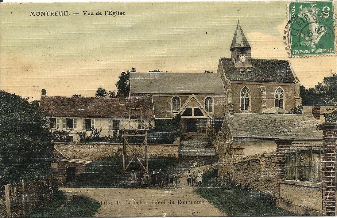 Vue de l'église en 1924
